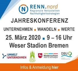 Verschoben: RENN.nord Jahreskonferenz: Unternehmen. Wandeln. Werte., Bremen